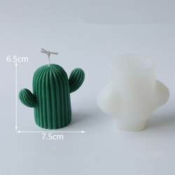 3D kaktus form Silikonform ljusform tvål hantverk tillverkning M:6.5*7.5cm