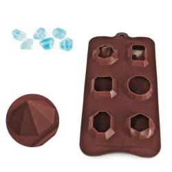 Diamant Silikonform Choklad Ice Cube Tray Tvålstenar Mögel