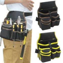 Elektriker Multi Pocket Belt Tool Pouch Bags Toolkit Holder Yellow