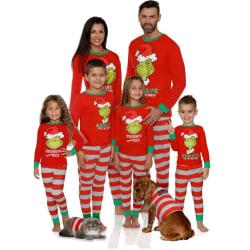 Familj Matchande vuxen julpyjamas Xmas Nightwear Set Dad S