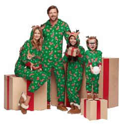 Family Matching Christmas Pyjamas Xams Elk Hoodie Jumpsuit Kid 8T