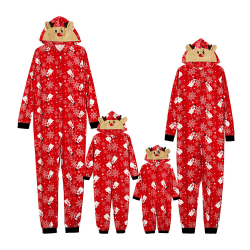 Family Matching Xmas Outfits Christmas Hooded Pyjamas Set Kid 5T