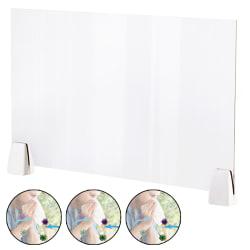 Transparent skydd mot skärm med hosta och skydd mot nysning 50cm*32cm