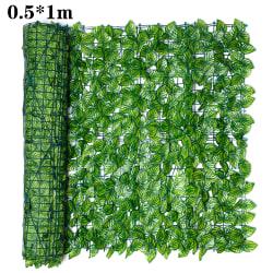 Trädgårdsskärmning av trästaket med konstgjorda växtsidor 0.5*1m