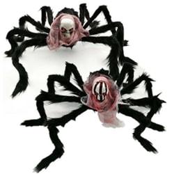Halloween spindeldekoration med karneval för skalleparty