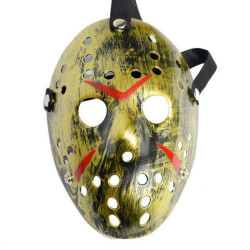Halloween-fest Jason Vorhees målade hockeymaskdräkter Old Gold