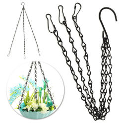 Hanging Chain Clips Trädgård Flower Pot Hanging Basket Ornament