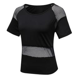 Damer Sports Fitness kortärmad topp Black XL