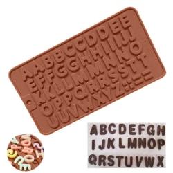 Letter Cake Cake Mögel Choklad Fondant Jelly Cookies Ice Mold