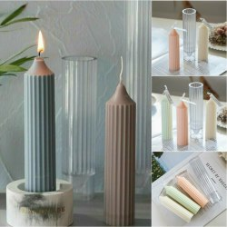 Long Pole Candle Silikonform Candle Making DIY Mold Supplies Hot 3.45x15.35cm