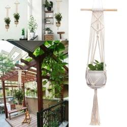 Macrame Plant Hangers Flowers Pot Holder Hanging Art Trädgård