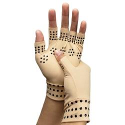 Magnetic Copper Compression Gloves Arthritis Half Finger Hand #1