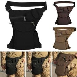 Herr Militär Drop Leg Väska Thigh Fanny Pack Midjebältepåse army green
