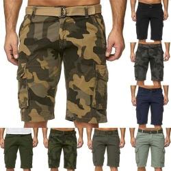 Camouflage-shorts för män med bälte green 40
