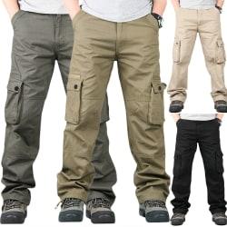Herr Casual Pocket Pants Byxor Herr army green 34