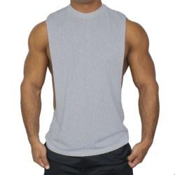 Ärmlös sportväst för män Casual Gym T-Shirts Tee Fitness grey M