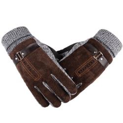 Vintervärme för män Halkfria Vindtäta termiska handskar Brown