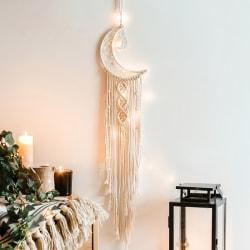 Moon Tapestry DreamCatcher Decor White