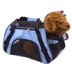 Nylon Mesh Pet Carrier Mjuktsidig katt Hundresväska Väska Black L