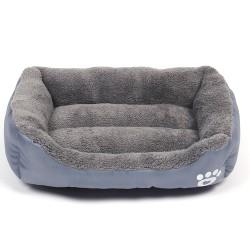 Sällskapsdjur Hundkatt Sängmatta Valpkudde Mjukt varmt hus Kennel filt grey M