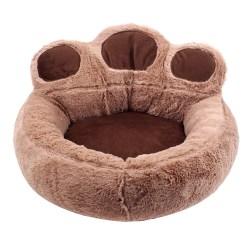 Pet Dog Cat Bed Puppy Washable Fleece Cushion Sleep Coffee L