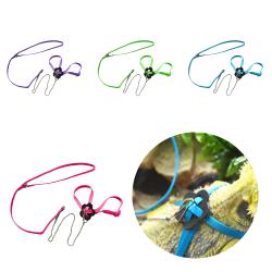 Pet Papegoja Bird Outdoor Harness Leash Adjustable Multicolor Pink