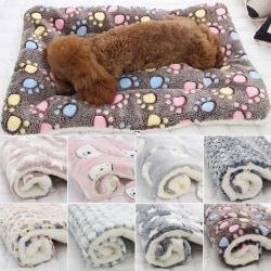 Husdjur resor vinter filt katt hund kennel stor mjuk låda matta grey bear head 49*32cm