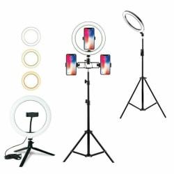 Ringljus LED Studio Photo Video Smink-lampa med stativ