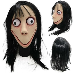 Läskig Momo Ghost Mask Halloween Party Cosplay Kostym