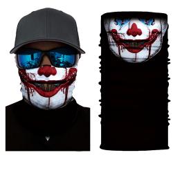 Skull Clown Neck Tube Bandana Scarf Snood Biker Mask Multi Use 57
