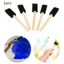 Svamp borstar trähandtag målning ritning hantverk barn gåvor 1PCS