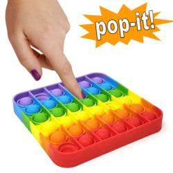 Stressboll Push Bubble Pop it Kid Toy Family Party Rolig spelgåva Square