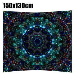 Gobeläng Abstrakt Tryckt Vägghängande Filt Sovrumsdekor 150x130cm