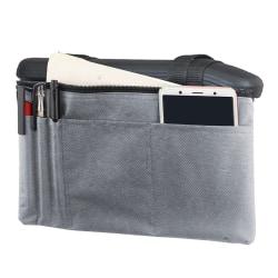 Rullstol Armstödpåse Mobilitet Scooter Aid Shoppinghållare Grey