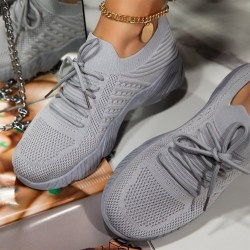 Kvinnor Löpning Gym Sports Jogging Fitness Sock Comfy Shoes Gray 40
