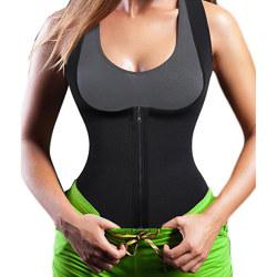 Kvinnors midjekorsett andningsbar stretchig bantning Shapewear black 5XL