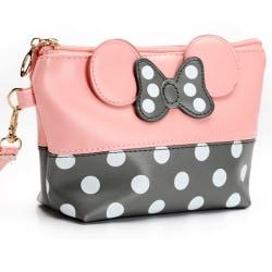 Womens Polka Dot Travel Väska Case Pouch Clutch Väska HandVäska pink