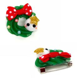 Hoppe-chan Julkrans pin Kawaii multifärg