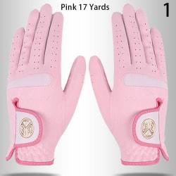 1 par golfhandskar för vänster och höger hand halkar ut