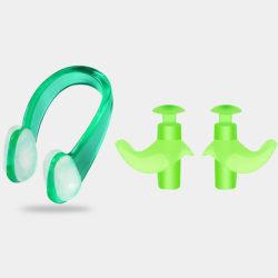 1 stycke / set simning mjuk silikon näsclips öronproppar set unise Green