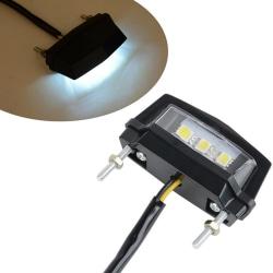12V motorcykel registreringsskylt LED ljus vattentät motorcykel lic onesize