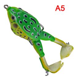 1st dubbla propellrar groda wobbler mjuka bete fiske lockar 90mm A5
