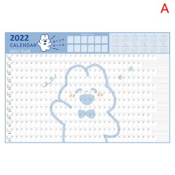 2022 års väggkalender med klistermärke 365 dagar dagligt schema per A