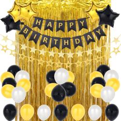 42 st födelsedagsfest banner dekorations kit Gold 1