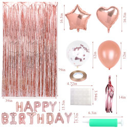 56 st födelsedagsfest bakgrundsdekorationer Hot pink 1