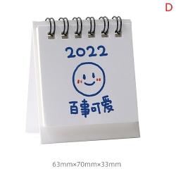 delikat 2022 kalenderplan för skrivbordsvägg månadsplan dagligen sc D