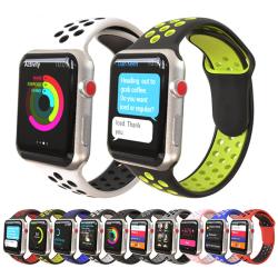 för Apple Watch-serien 6 se 5 4 3 44/42/40/38 mm silikon sport Black 42/44mm
