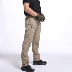 herrbyxor fan ix7 pocket overaller stridsbyxor byxor m-5xl khaki 5XL
