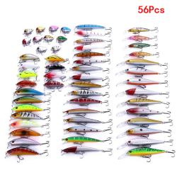 Mixed minnow-modeller som fiskar betar vevbete 56Pcs