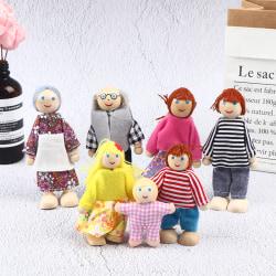 trädockor leksaker figurer möbler hus familj miniatyr 7 peo C